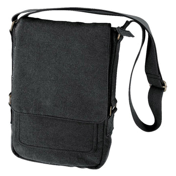 Rothco Vintage Canvas Military Tech Bag - Black