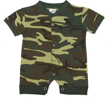 Rothco Infant One-Piece Bodysuit Woodland Camo