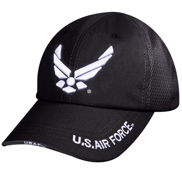 Rothco Mesh Black Tactical US Airforce Wing Cap