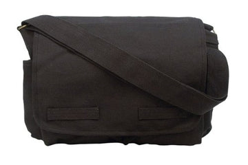 Rothco HW Canvas Classic Messenger Bag - Black