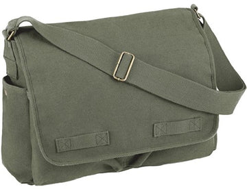 Rothco HW Canvas Classic Messenger Bag - Olive