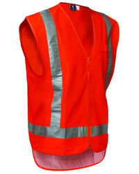 High Vis Zip Vest - Orange-Argyle-Downunder Pilot Shop Australia