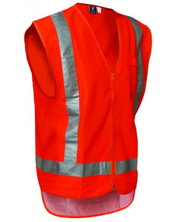 High Vis Zip Vest - Orange