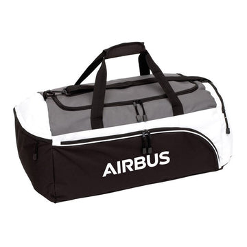 Airbus Black and Grey Sports Bag
