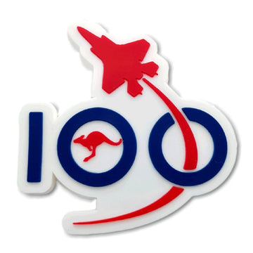Air Force 100 White Logo Magnet