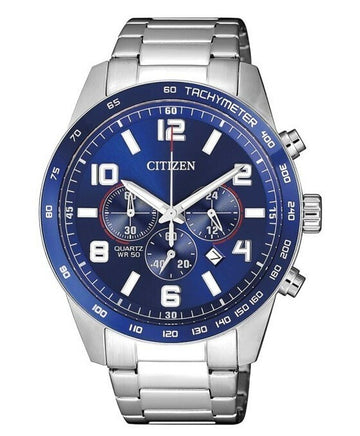 Citizen AN8161-50L Quartz Chronograph Men's Watch - Blue Dial