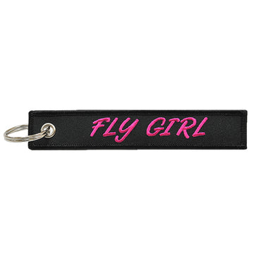 Fly Girl Keychain