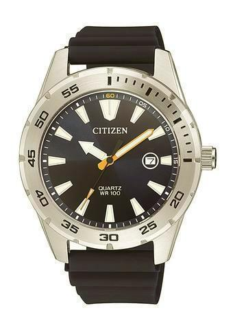 Citizen Men's Stainless Steel Quartz Watch BI1041-31E - Black