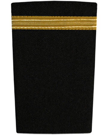 Epaulettes One Bar Gold on Black