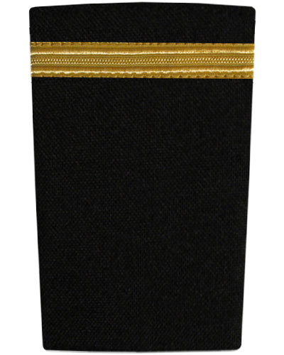Epaulettes One Bar Gold on Black-Downunder-Downunder Pilot Shop Australia