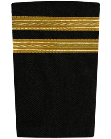 Epaulettes Two Bar Gold on Black