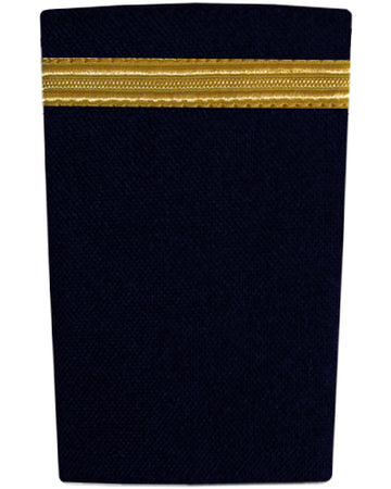 Epaulettes One Bar Gold on Navy