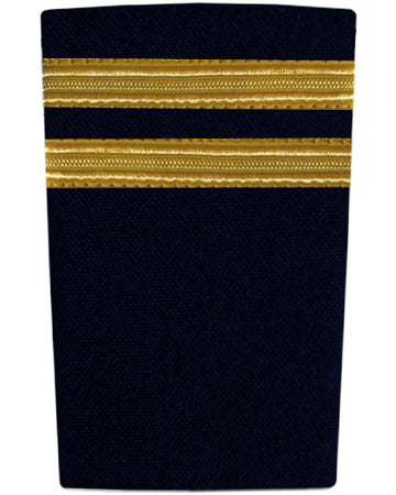 Epaulettes Two Bar Gold on Navy
