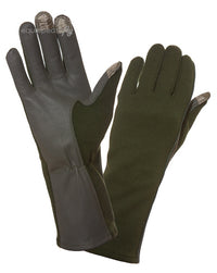 Touch Screen Nomex Flight Gloves - Sage Green-Equipped To Fly-Downunder Pilot Shop Australia