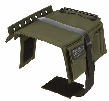 Flyboys KneeBoard with Eyelets & Clipboard - Green