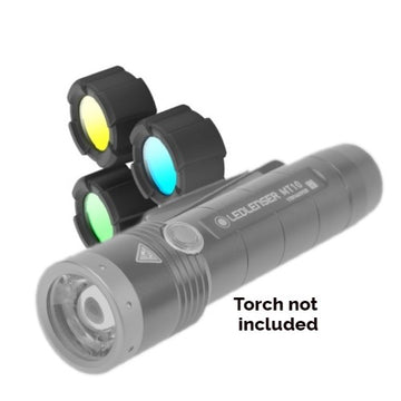 LED Lenser Filter Set for the LED Lenser MT10 (Green Blue Yellow)