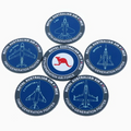 Air Force Five Generations RAAF Fighter PVC Coasters Set