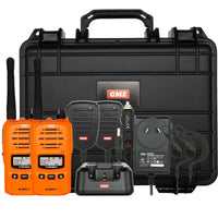GME TX6160TP 5 Watt IP67 UHF CB Handheld Radio Twin Pack - Blaze Orange