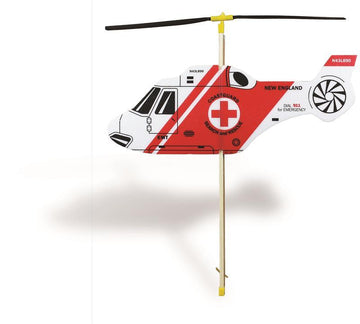 Rubber Band Powered Toy Helicopter - Search and Rescue