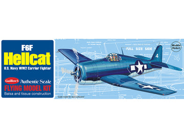 Guillows F6F Hellcat Rubber-Powered Balsa Model Kit