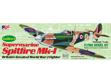 Guillows Spitfire MK-1 Rubber-Powered Balsa Model Kit
