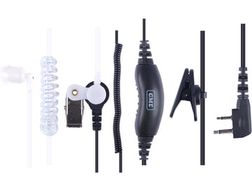 GME Security kit - clear ear tube and lapel mic - TX665/675/685/6150