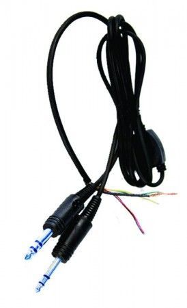 Pilot Replacement GA Headset Lead Stereo with switch in Yblock