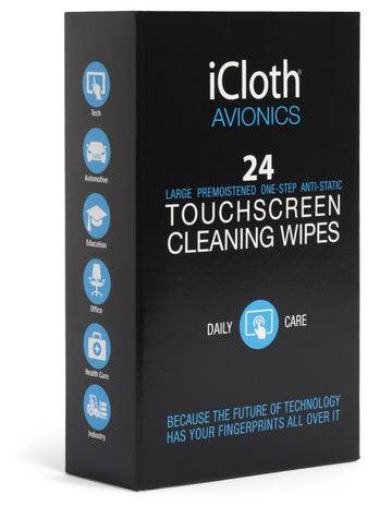 iCloth Avionics Wipes (Box of 24)