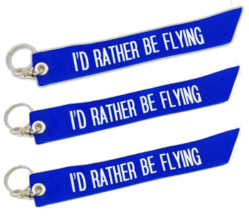 Id Rather Be Flying Keychain