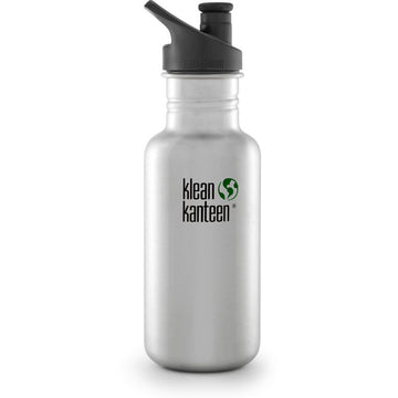 Klean Kanteen Classic Sports Cap 18oz - 532ml Bottle (Stainless Steel)