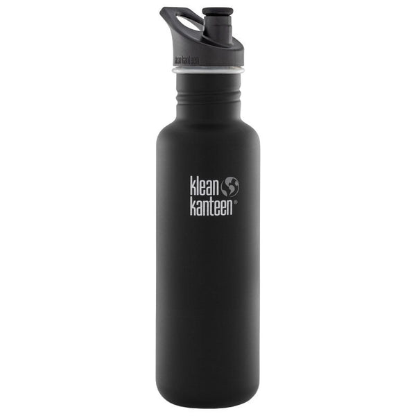 Klean Kanteen Classic Sports Cap 27oz - 800ml Bottle (Shale Black)
