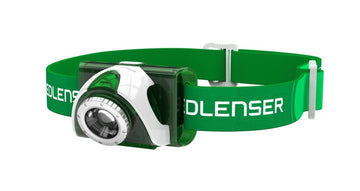 LED Lenser SEO3 Head Torch - Green