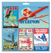 Vintage Magnet Set-Born Aviation-Downunder Pilot Shop Australia