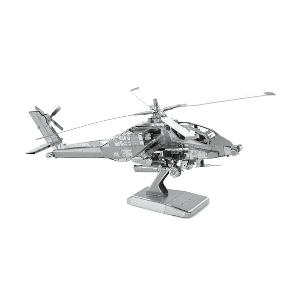 Metal Earth AH-64 Apache Helicopter-Metal Earth-Downunder Pilot Shop Australia