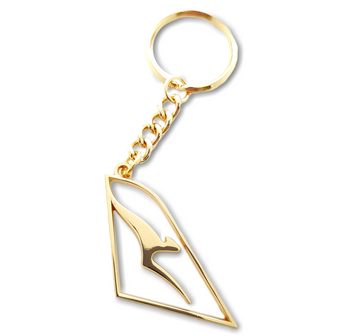 Qantas Gold Cut out Keyring