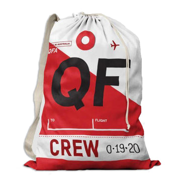 Qantas Flight Crew Drawstring Bag