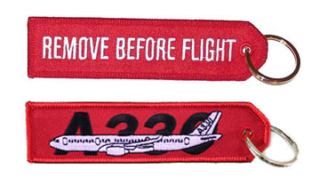 Remove Before Flight - Airbus A330 Keychain