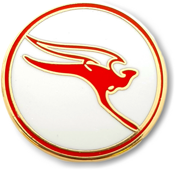 Qantas Retro Logo Pin