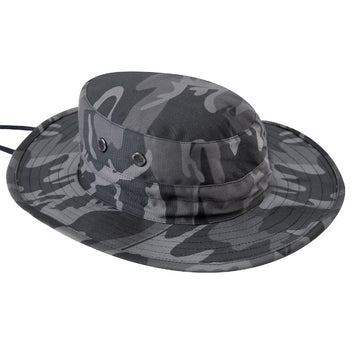 Rothco Adjustable Boonie Hat - Black Camo