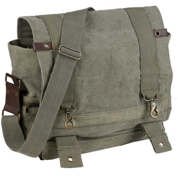 Rothco Vintage Canvas B-15 Pilot Messenger Bag - Olive Drab