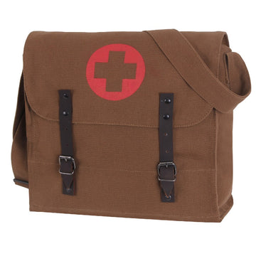 Rothco Vintage Medic Canvas Bag With Cross - Brown