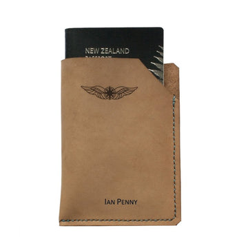 Sparrowhawk Passport Wallet - Nubuck