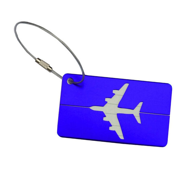 Aluminium Luggage Tag - Blue-ABC-Downunder Pilot Shop Australia