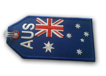 Australian Flag Embroidered Luggage Tag