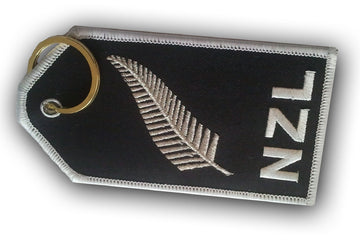 NZL Silver Fern Embroidered Luggage Tag