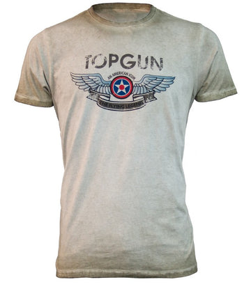 TOP GUN Wings Logo T-Shirt - Grey