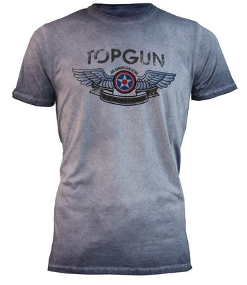 TOP GUN Wings Logo T-Shirt - Navy