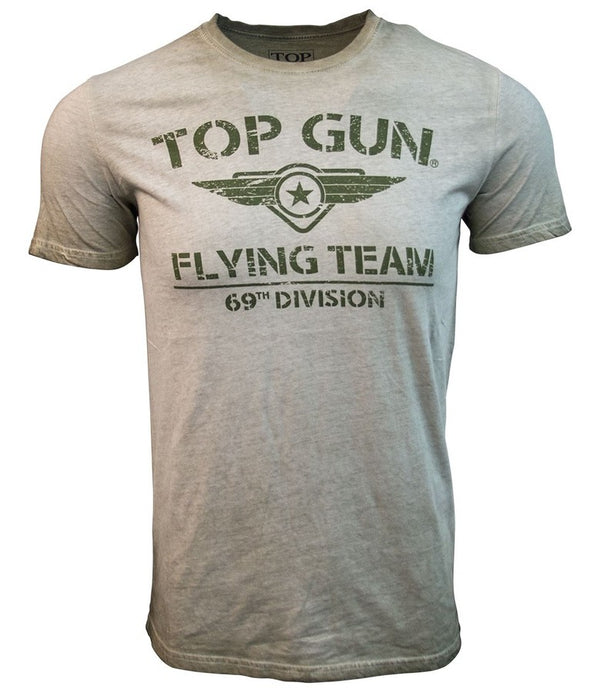TOP GUN Flying Team T Shirt - Olive-Top Gun-Downunder Pilot Shop Australia