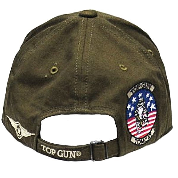 Top Gun Cap with Patches - Olive