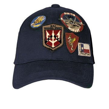 Top Gun Cap with Patches - Navy